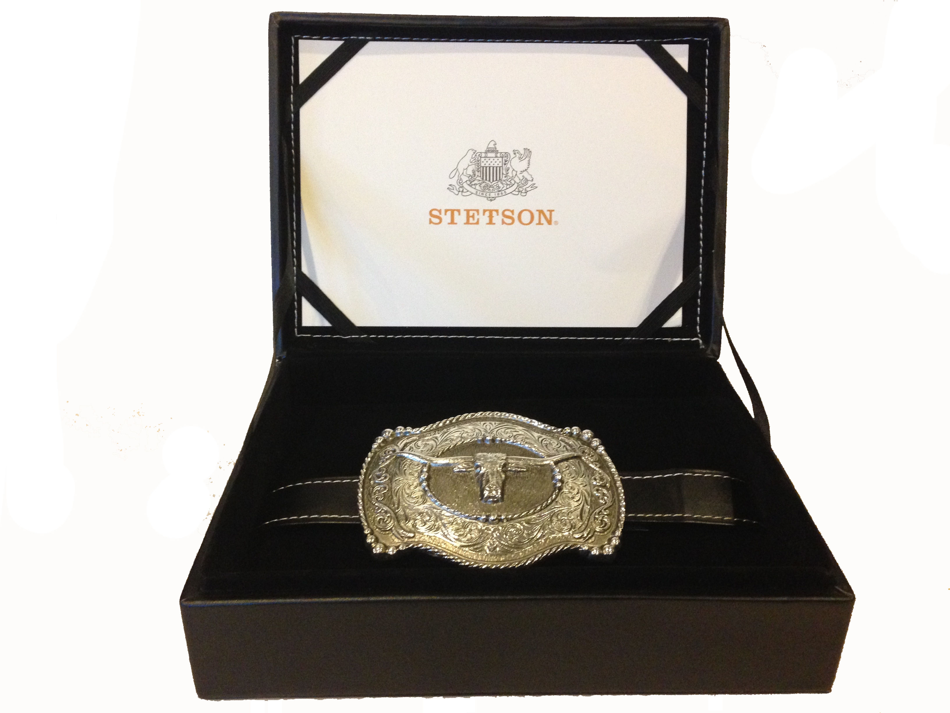 Stetson Silver Plated Relentless Leather Boxed