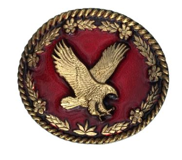 Flying Eagle Gold Plated Bolo Tie Complete with Cord