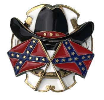 Hat & Flags Gold & Silver Plated Bolo Tie complete with Cord
