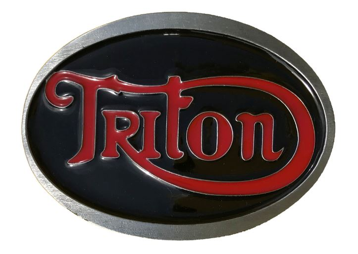 Triton Belt Buckle Black & Red