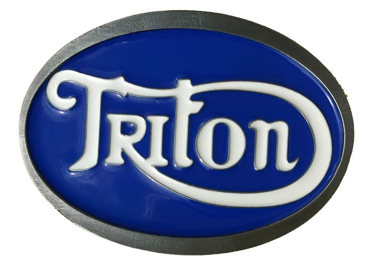 Triton Belt Buckle Blue & White