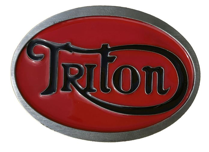 Triton Belt Buckle Red & Black
