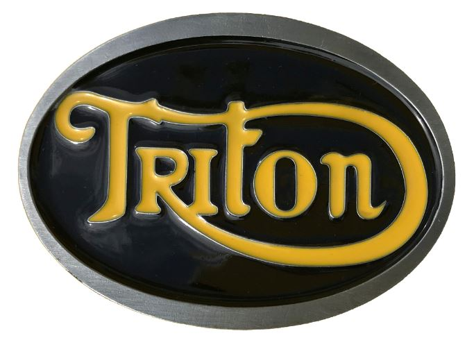 Triton Belt Buckle Black & Yellow