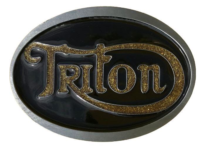 Triton Belt Buckle Black & Gold Glitter