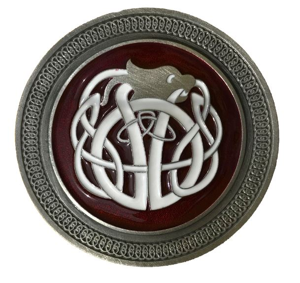 Celtic Knot Red & White Belt buckle