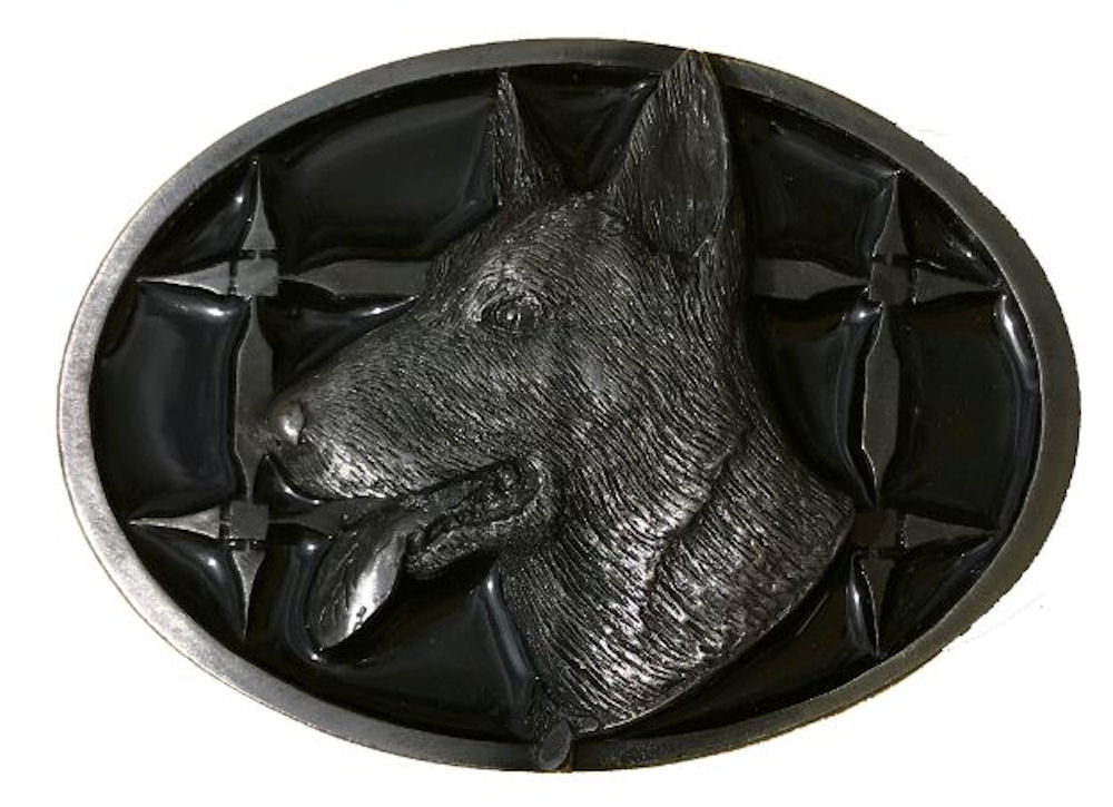 German Shepherd Belt Buckle Black