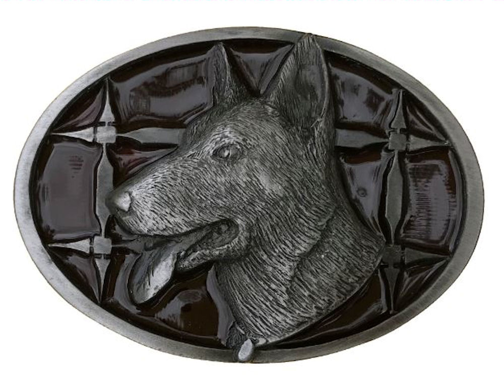German Shepherd Red Belt Buckle