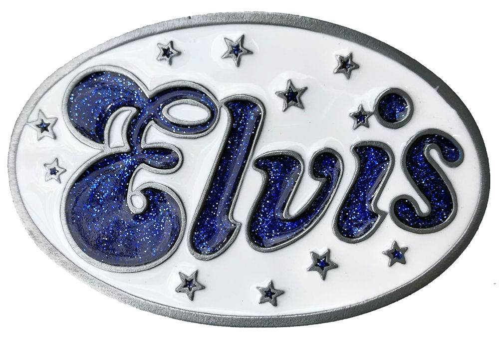 Elvis Oval - White & Blue GL