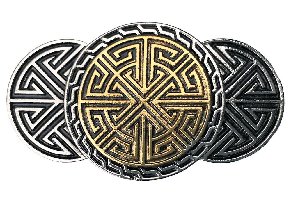 Celtic Runes Gold & Silver Plated