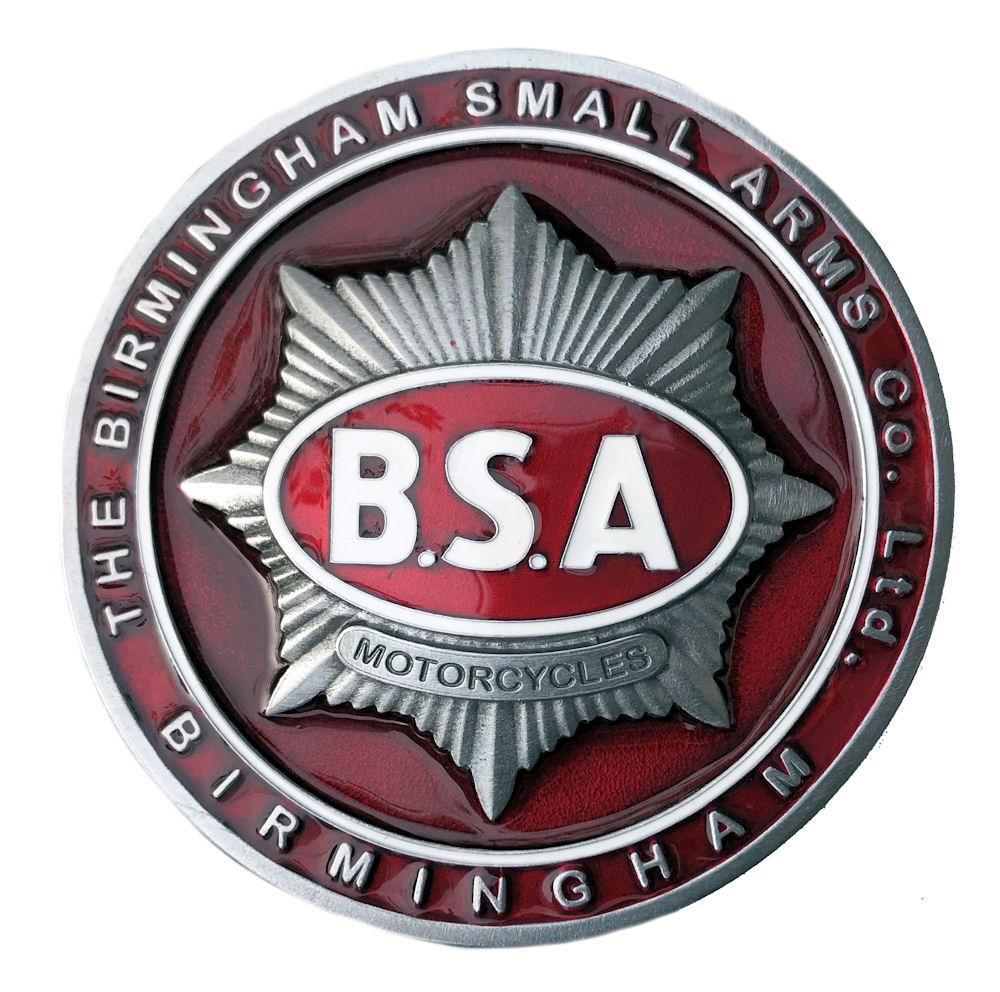 BSA Gold Star Tank Badge Red/White