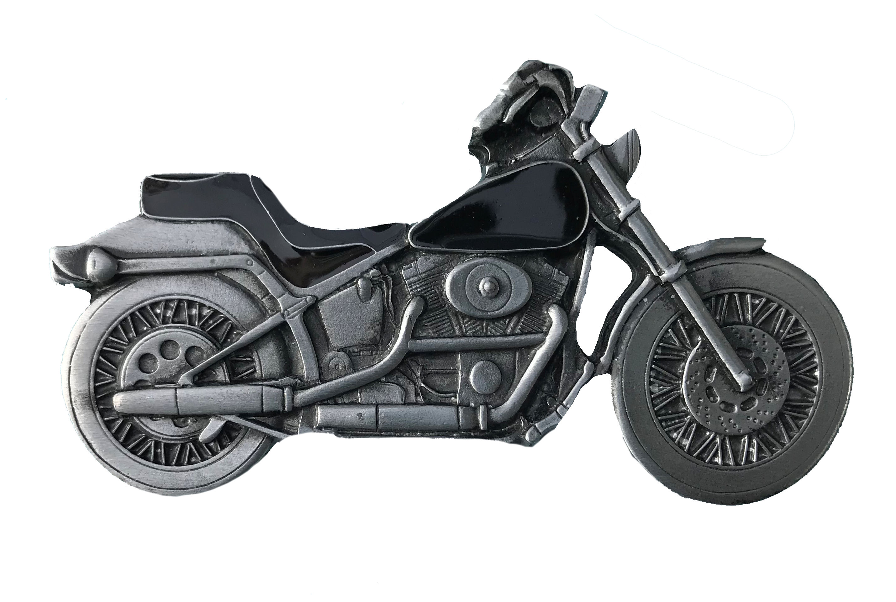 Chopper Bike Black Belt Buckle