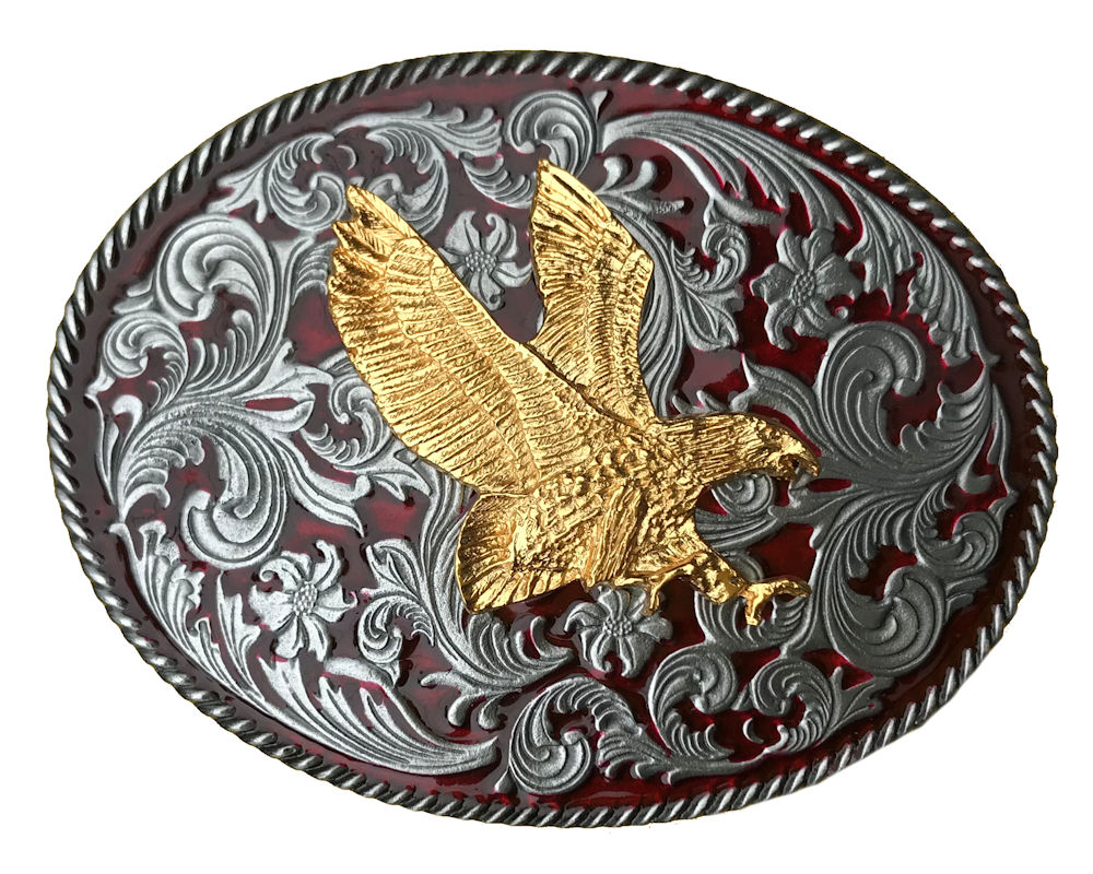 Rodeo Red Small Gold Eagle