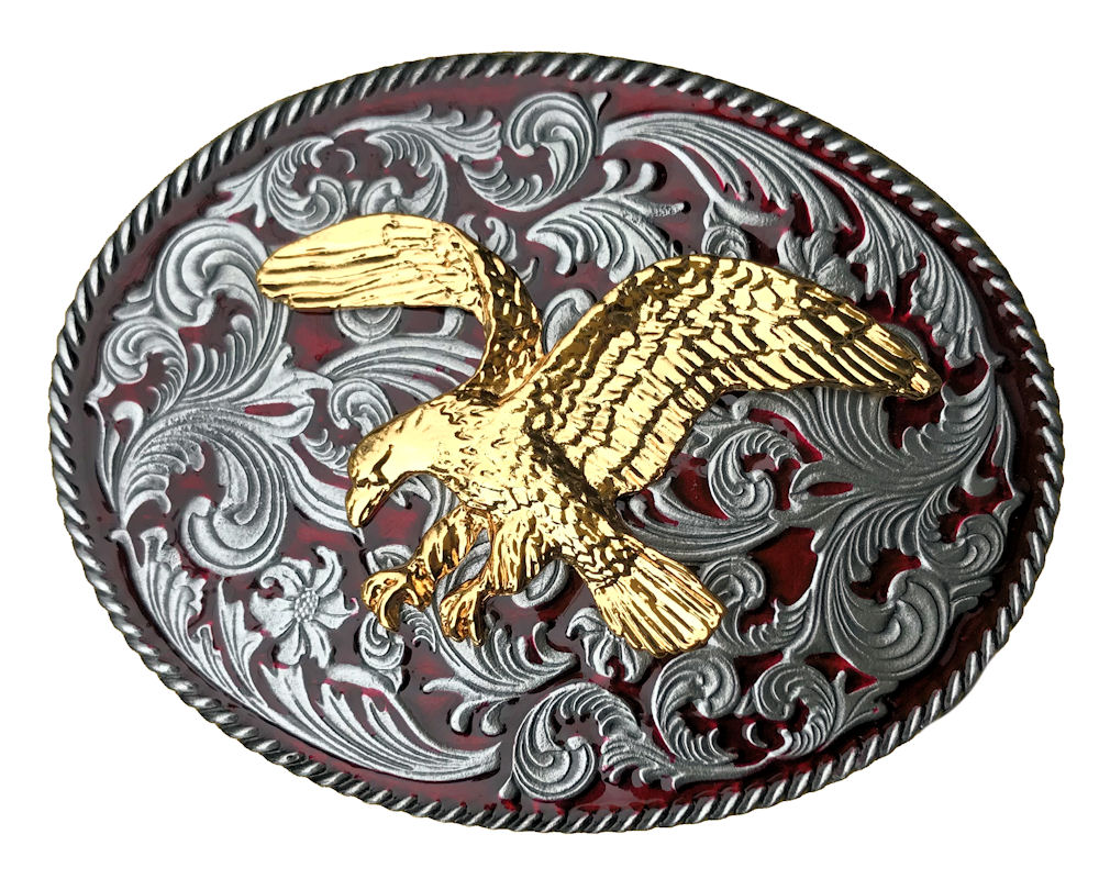 Rodeo Eagle Medium Red Western