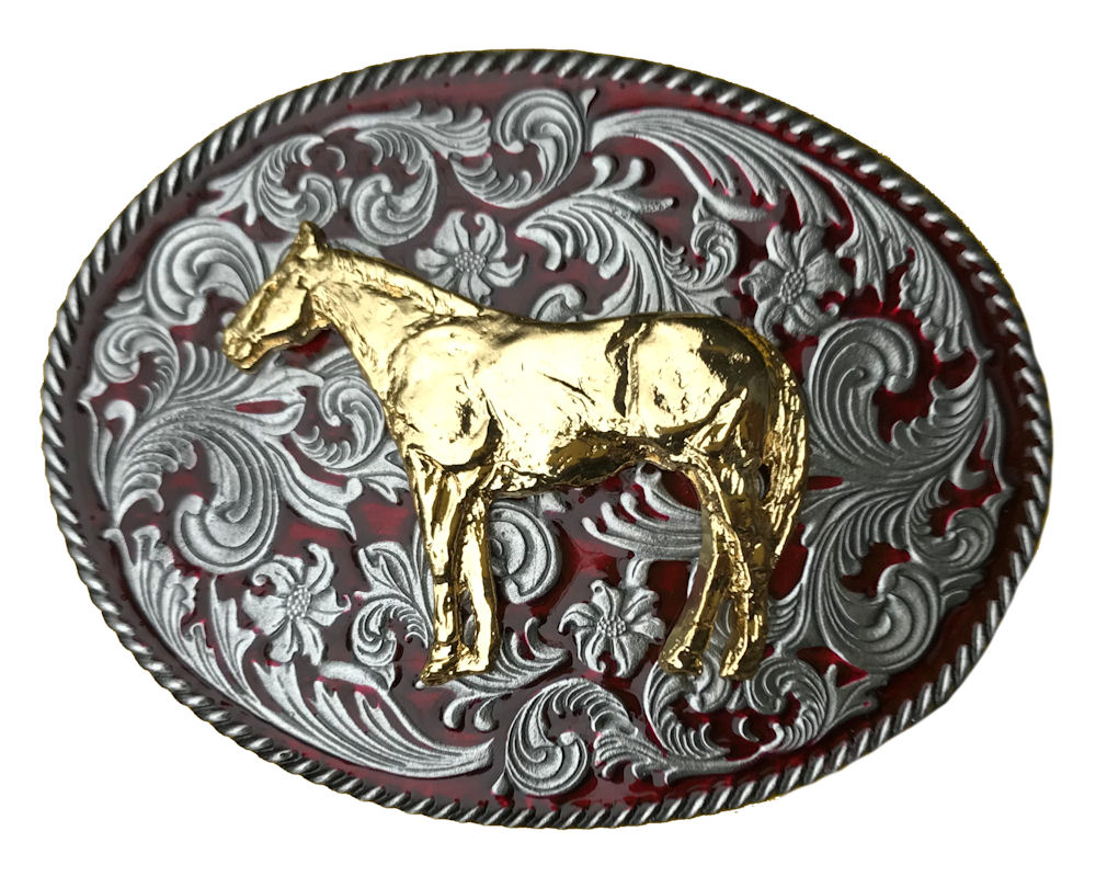 Rodeo Western Red Gold Horse