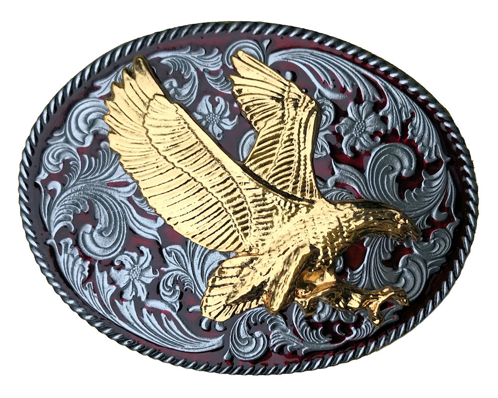 Rodeo Western Red with Large Eagle