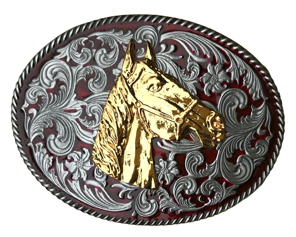 Rodeo Western Horse Head