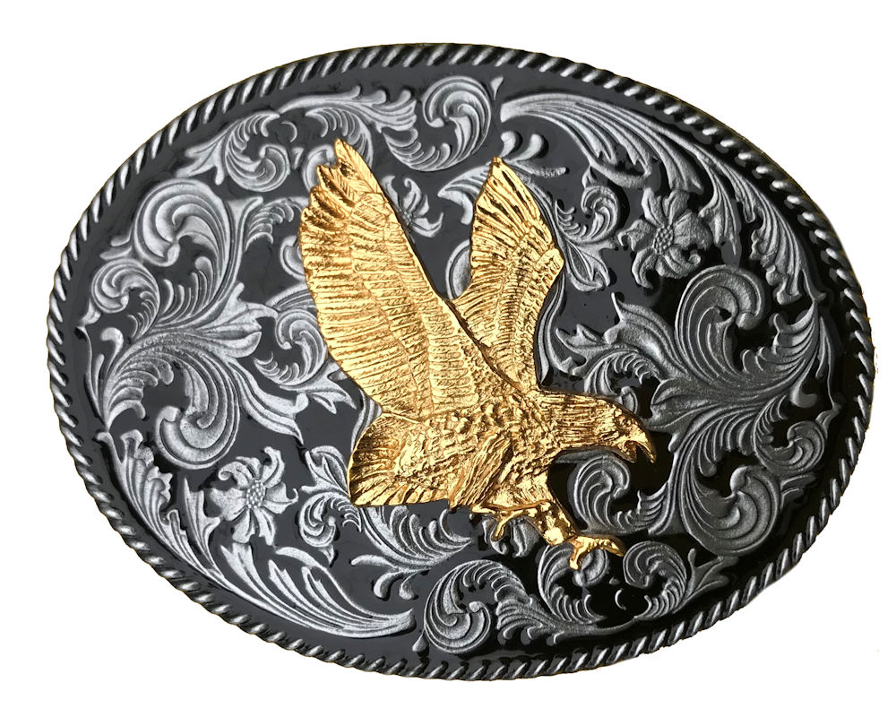 Rodeo Western with Small Gold Eagle