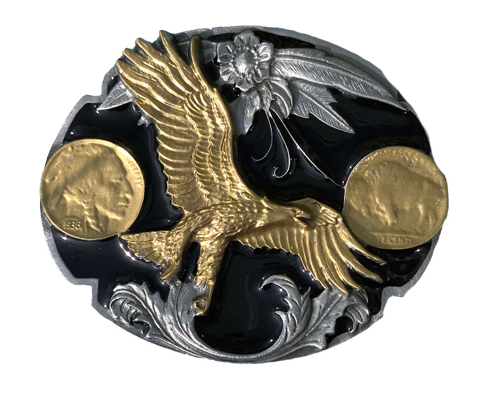Eagle & Coins Black & Gold