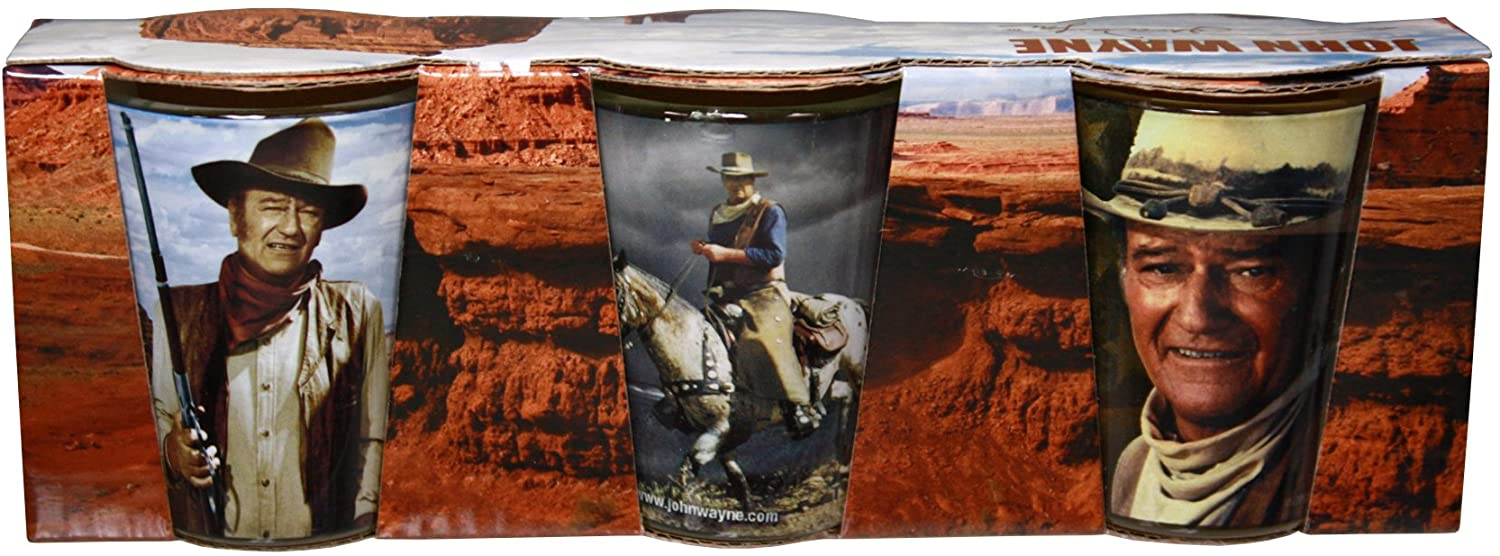 John Wayne Shot Glasses Set of 3