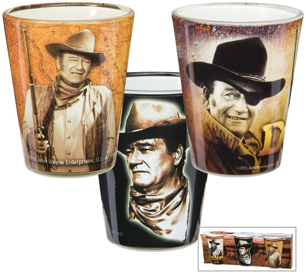 John Wayne Duke Shot Glass Set of 3