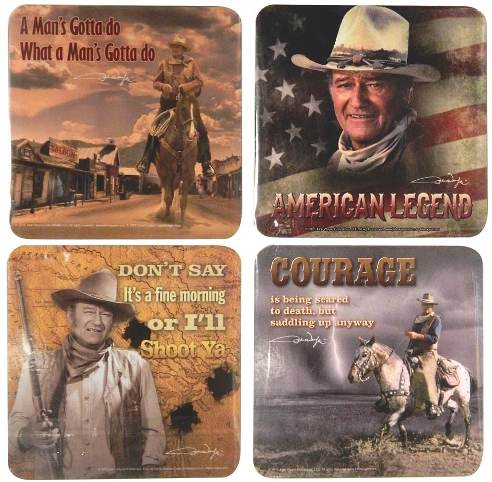 John Wayne Coasters -Set of four