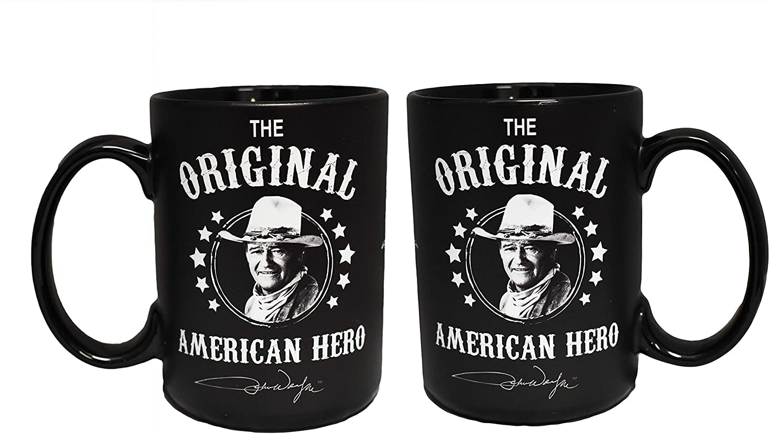 John Wayne Mug - Black and White American Hero