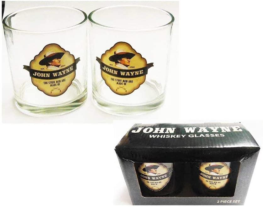 John Wayne Whiskey Glasses 2 Piece Set