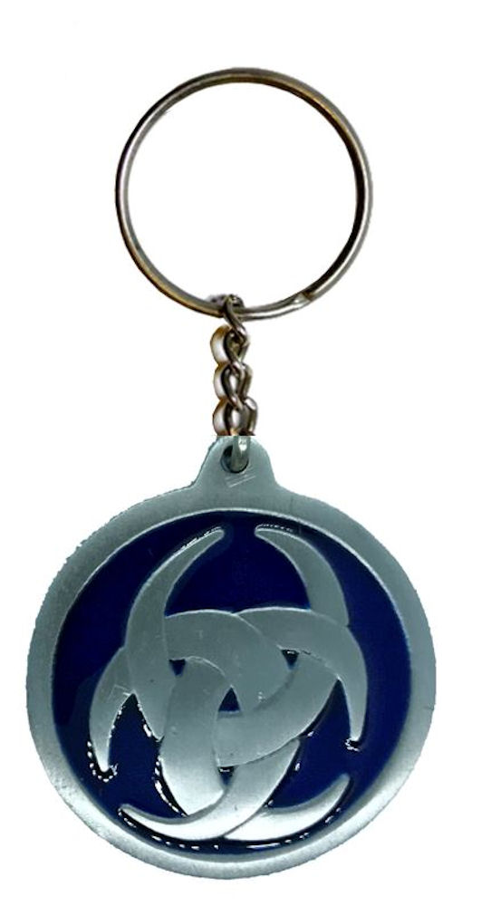 Celtic Design Keychain Blue