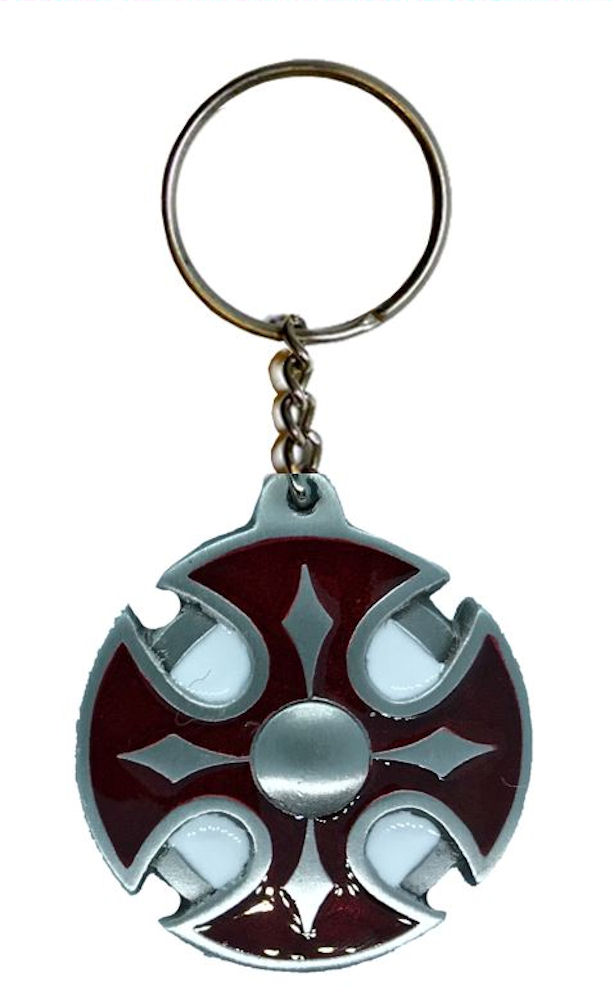 Celtic Design Keychain Red - White