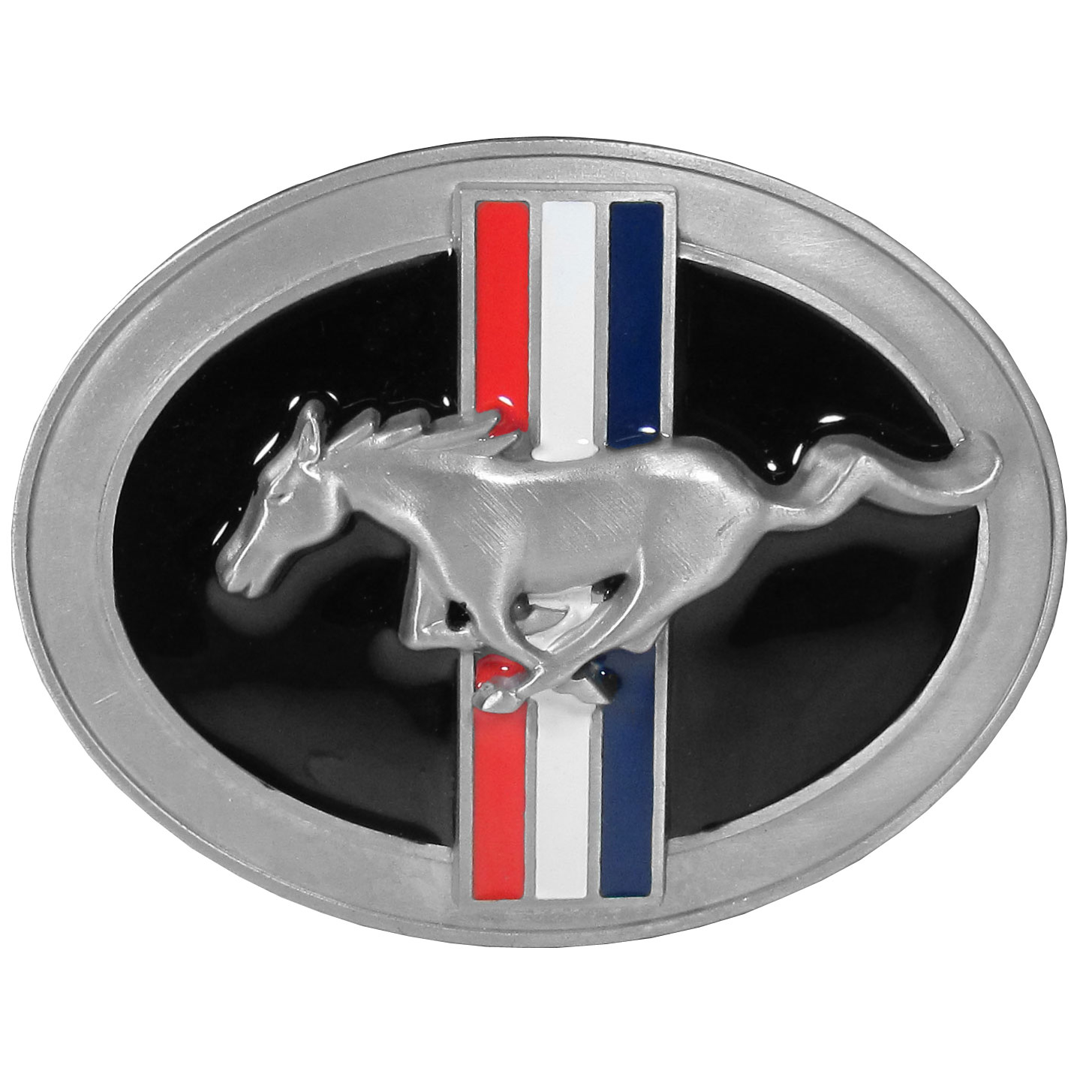 Mustang Tribar Logo Belt Buckle