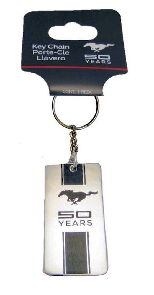 Ford Mustang 50 Years Anniversary Enamel Key Ring
