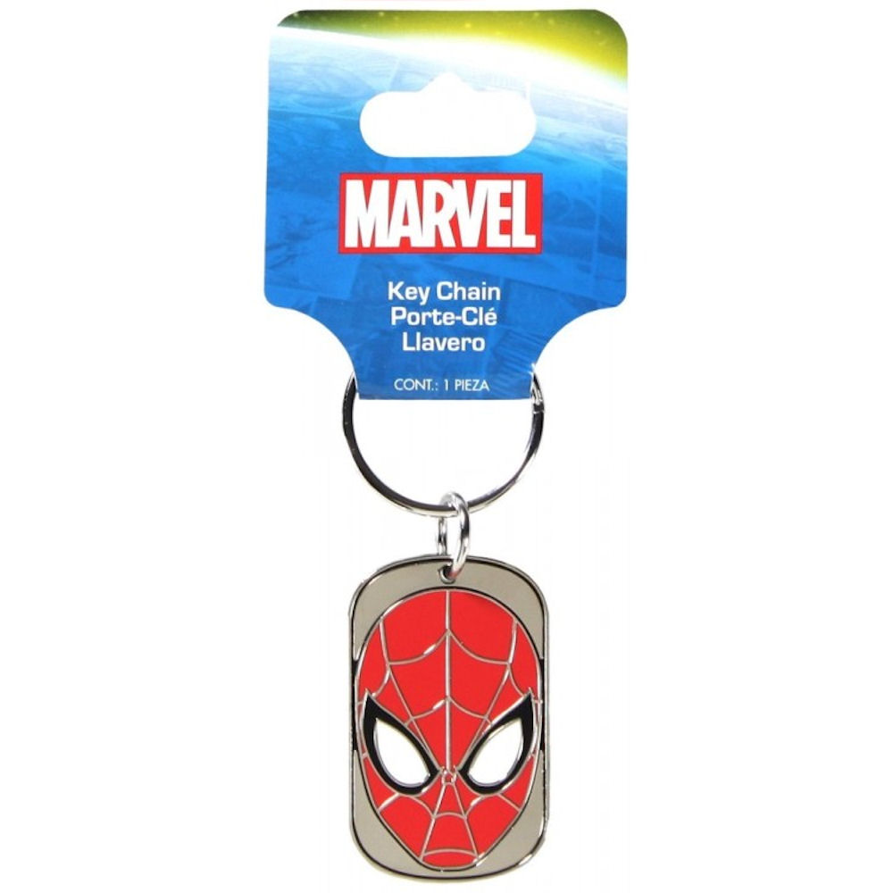 Spiderman Dog Tag Key Chain