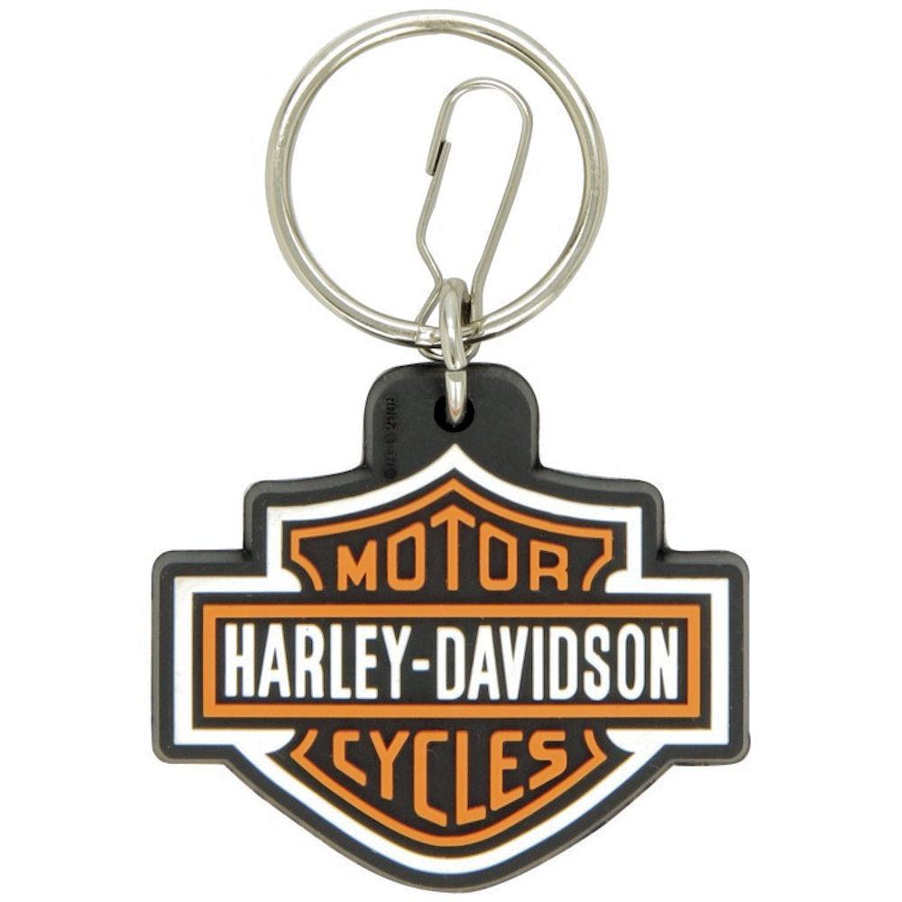 Harley Davidson Logo Rubber Key Ring