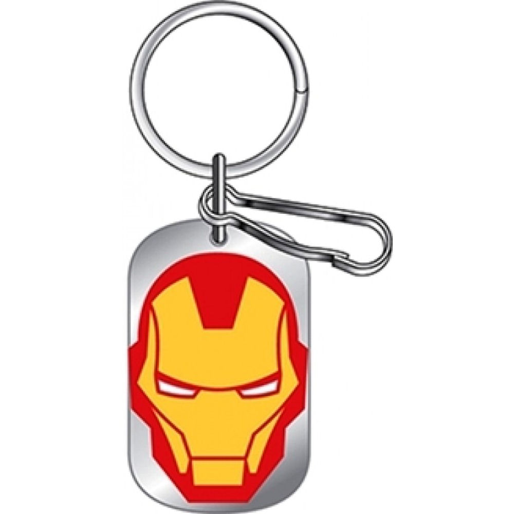 Iron Man Dog Tag Key Chain
