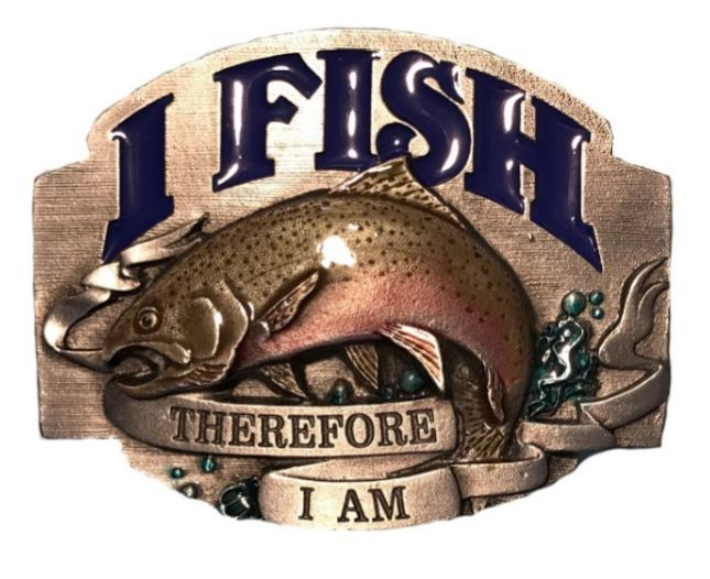 I Fish Belt Buckle