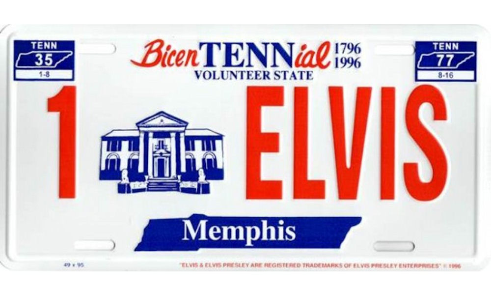 Elvis Presley Metal License Plate