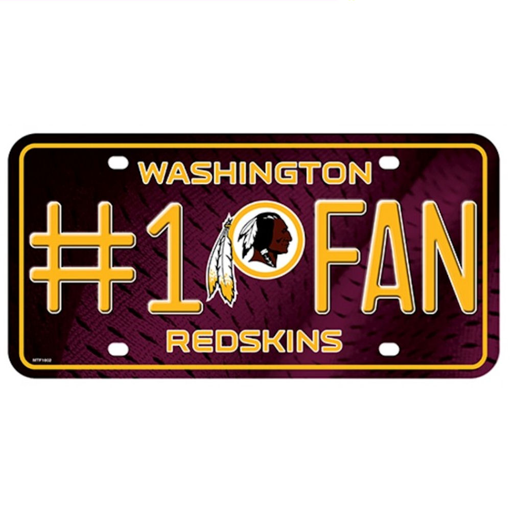 License Plate Washington Redskins No.1 Fan