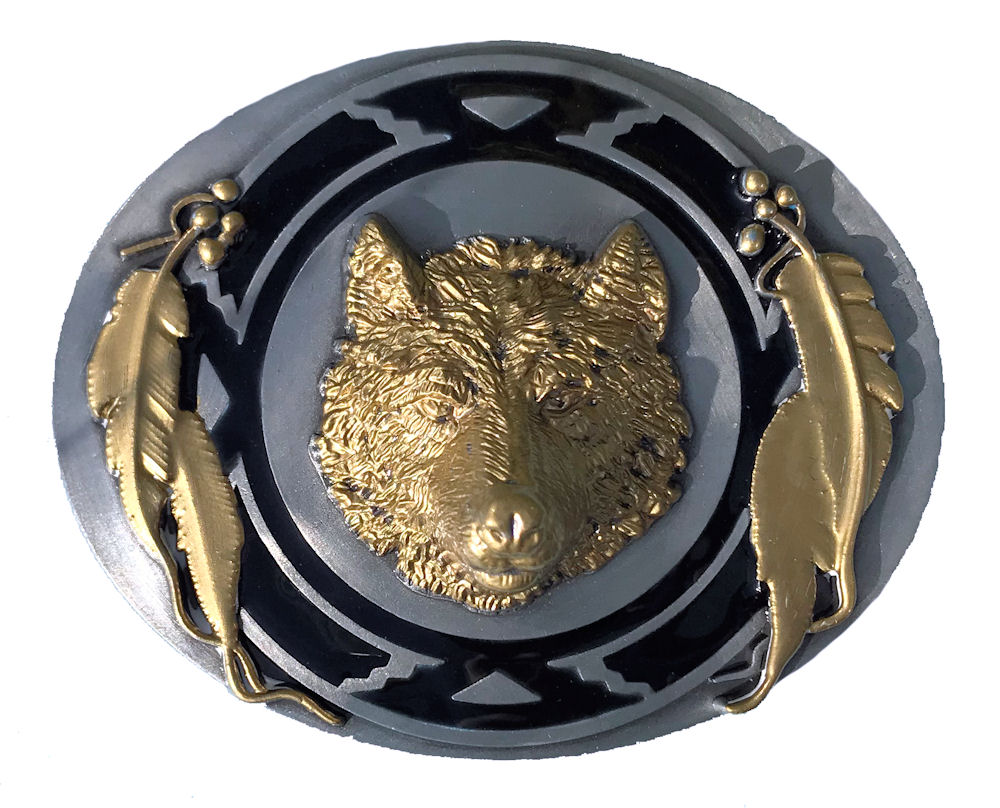 Wolf Head Black & Gold