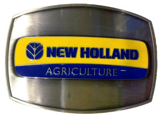 New Holland Agriculture Logo Belt Buckle