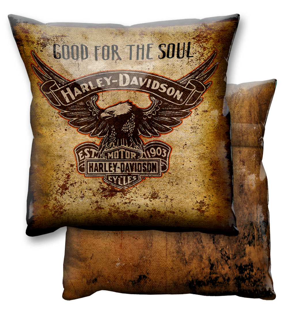 Harley Davidson Eagle Logo Vinyl Cushion