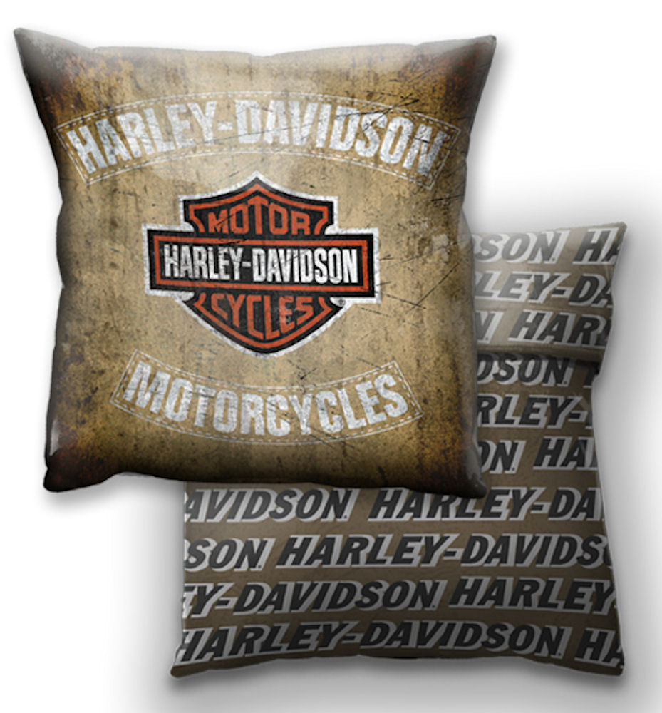Harley Davidson Motor Cycles Logo Cushion