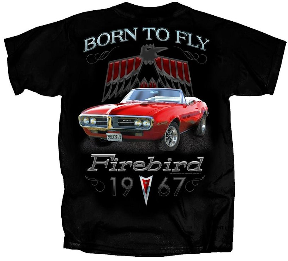 Pontiac 1967 Firebird Born to Fly T Shirt Officially Licensed Large
