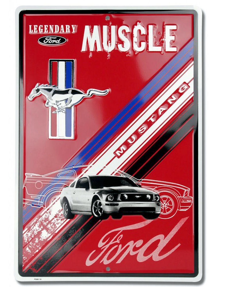 Ford Mustang Metal Parking Sign
