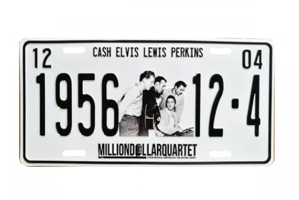 License Plate Million Dollar Quartet 1956 Metal