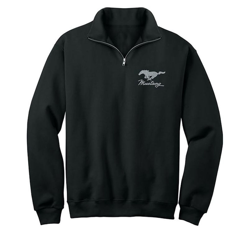 Ford Embroidered Mustang Pony Quarter Zip Fleece