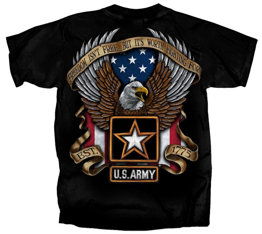 U.S Military Army Freedom T Shirt Large