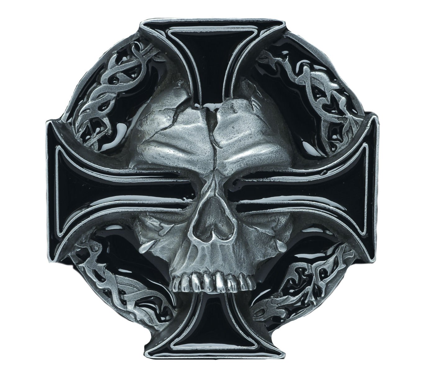 Skull - Cross Belt Buckle