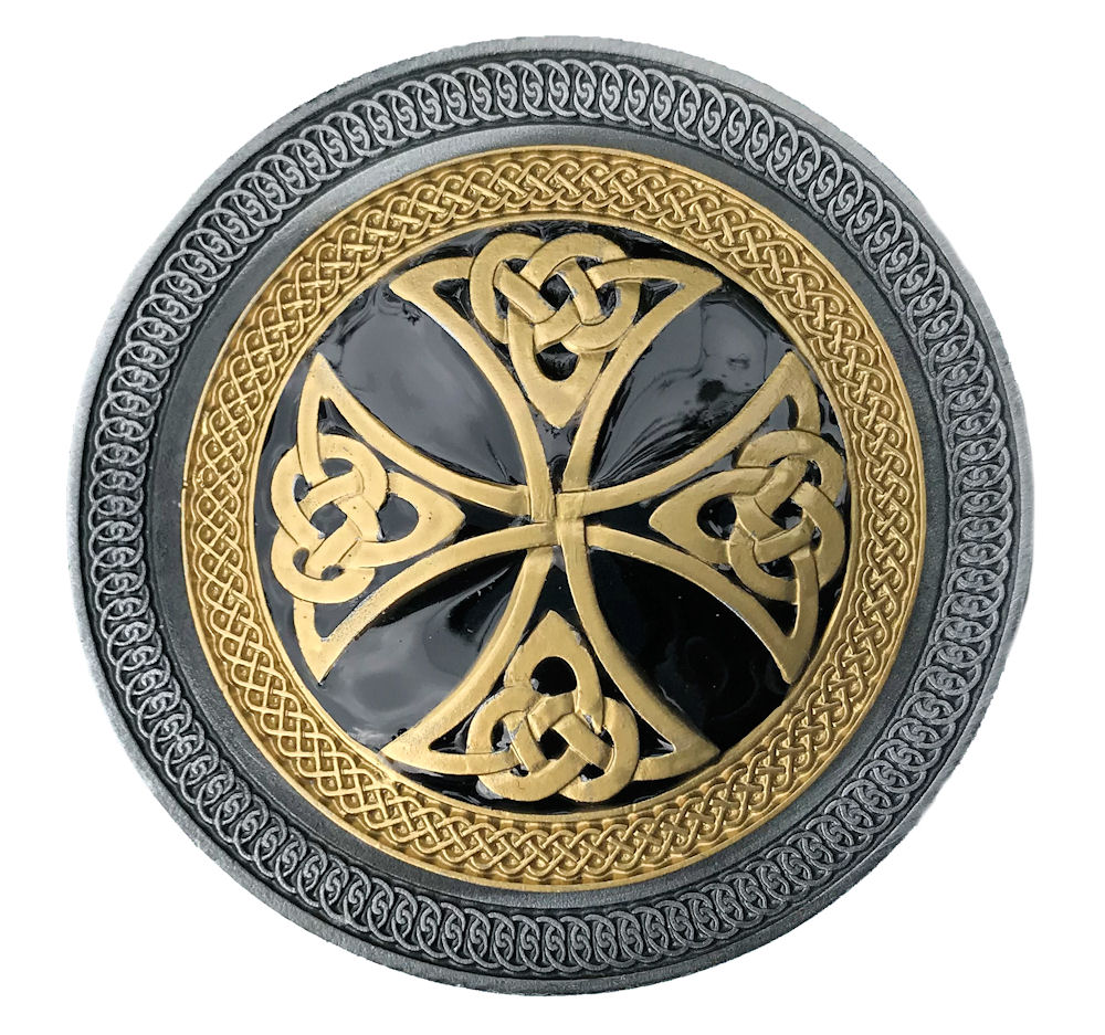 Celtic Cross Black & Gold