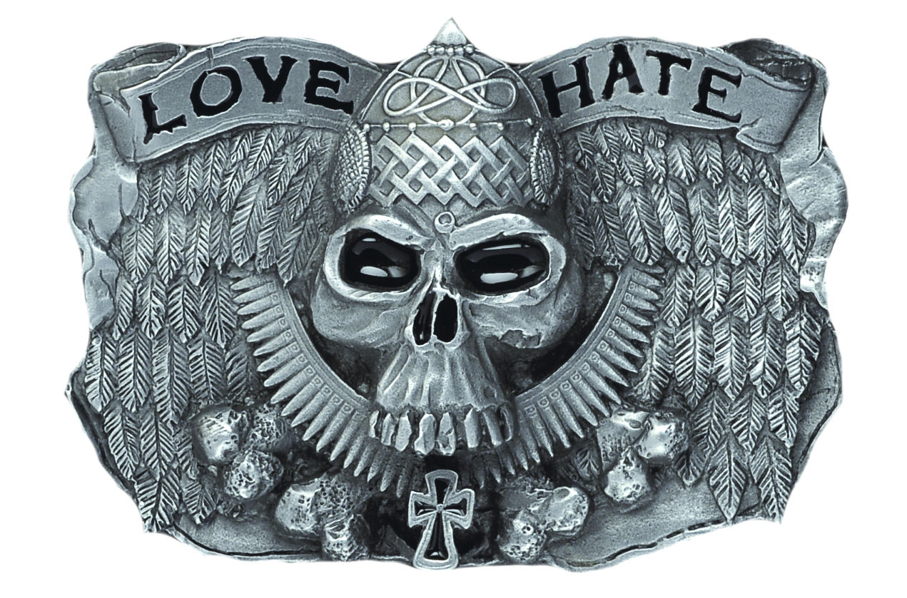 Love & Hate Belt Buckle