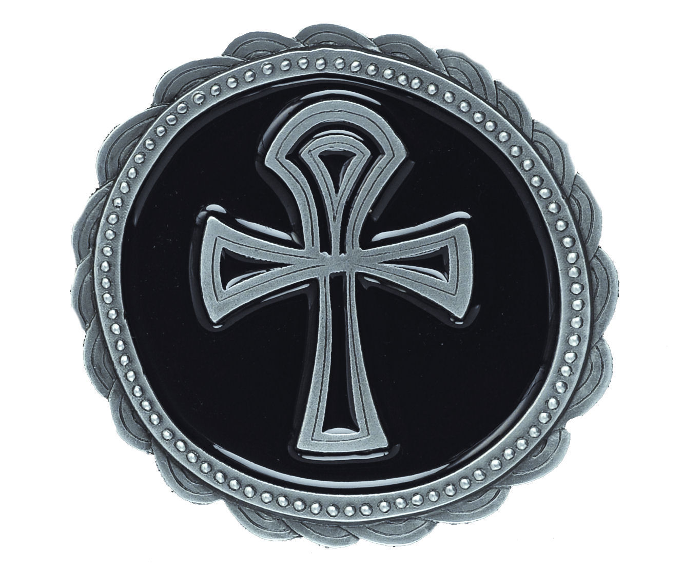 Amon Ankh Cross black Belt Buckle